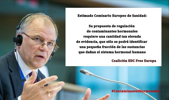 V. Andriukaitis, Comisario de Sanidad de la Comisión Europea ha presentado hoy los criterios de definición de los EDCs