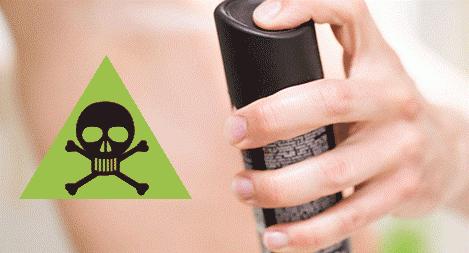 peligro desodorantes